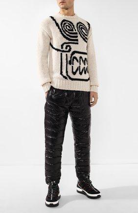 Мужской утепленные брюки 2 moncler 1952 x valextra MONCLER GENIUS черного цвета, арт. E2-091-11912-00-68950 | Фото 2
