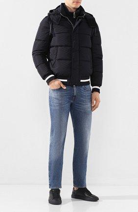 Мужские кожаные кеды HIDE&JACK черного цвета, арт. SKYLCASBLK | Фото 2