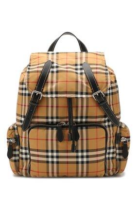 Мужской текстильный рюкзак BURBERRY бежевого цвета, арт. 8005141 | Фото 1