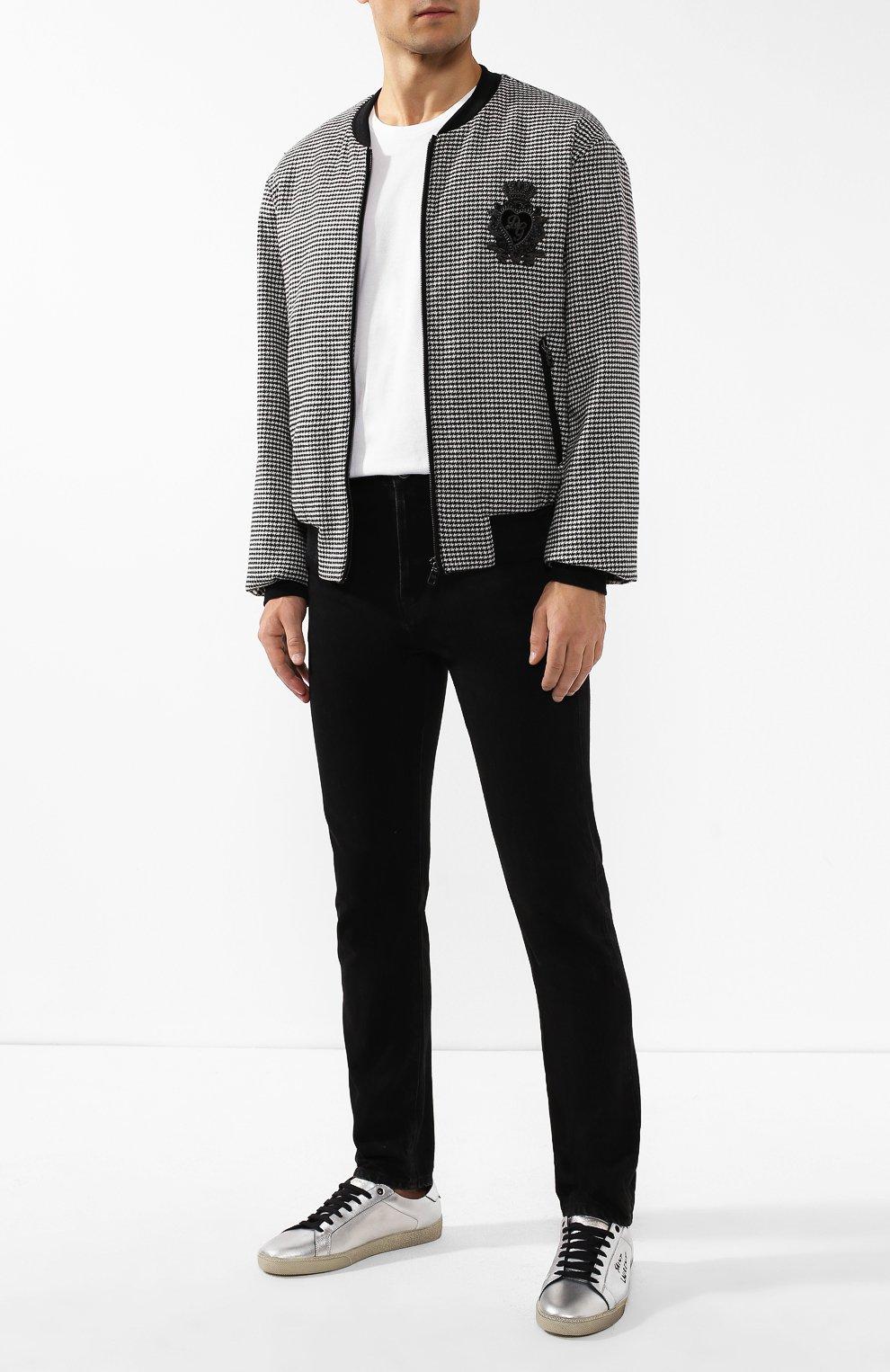 Мужские джинсы SAINT LAURENT черного цвета, арт. 584475/YI899 | Фото 2