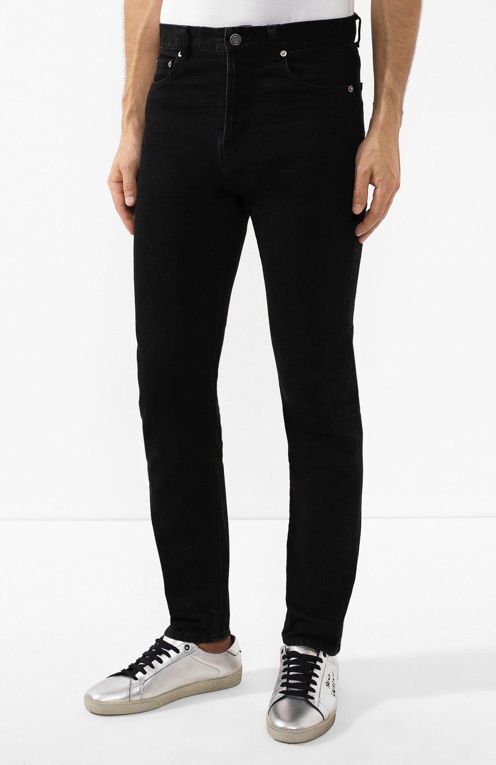 Мужские джинсы SAINT LAURENT черного цвета, арт. 584475/YI899 | Фото 3