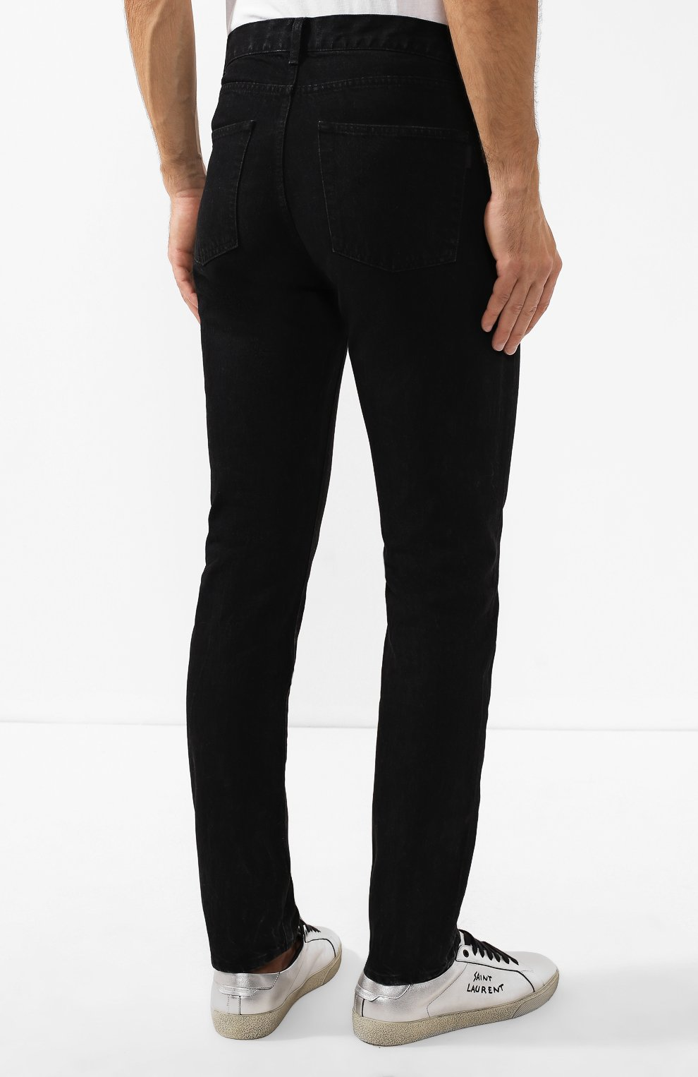 Мужские джинсы SAINT LAURENT черного цвета, арт. 584475/YI899 | Фото 4