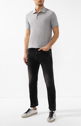 Мужские джинсы SAINT LAURENT черного цвета, арт. 586216/YB500 | Фото 2