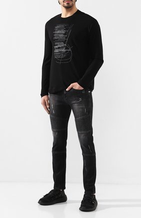 Мужская хлопковый лонгслив ISABEL BENENATO черного цвета, арт. UJ02PF19 | Фото 2