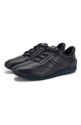 Мужские кожаные кроссовки TOD'S темно-синего цвета, арт. XXM70A0BS20NPT | Фото 1