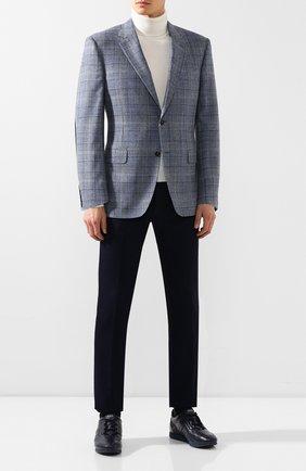 Мужские кожаные кроссовки TOD'S темно-синего цвета, арт. XXM70A0BS20NPT | Фото 2