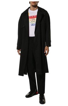 Мужские кожаные кроссовки TOD'S черного цвета, арт. XXM91B0CA40MIA | Фото 2