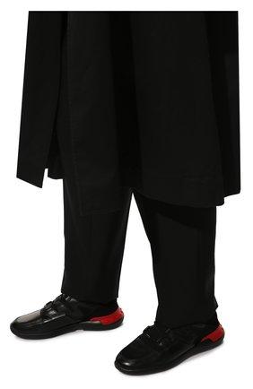 Мужские кожаные кроссовки TOD'S черного цвета, арт. XXM91B0CA40MIA | Фото 3