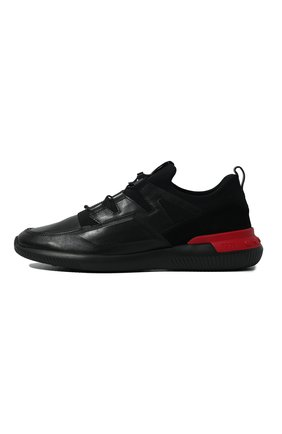 Мужские кожаные кроссовки TOD'S черного цвета, арт. XXM91B0CA40MIA | Фото 4