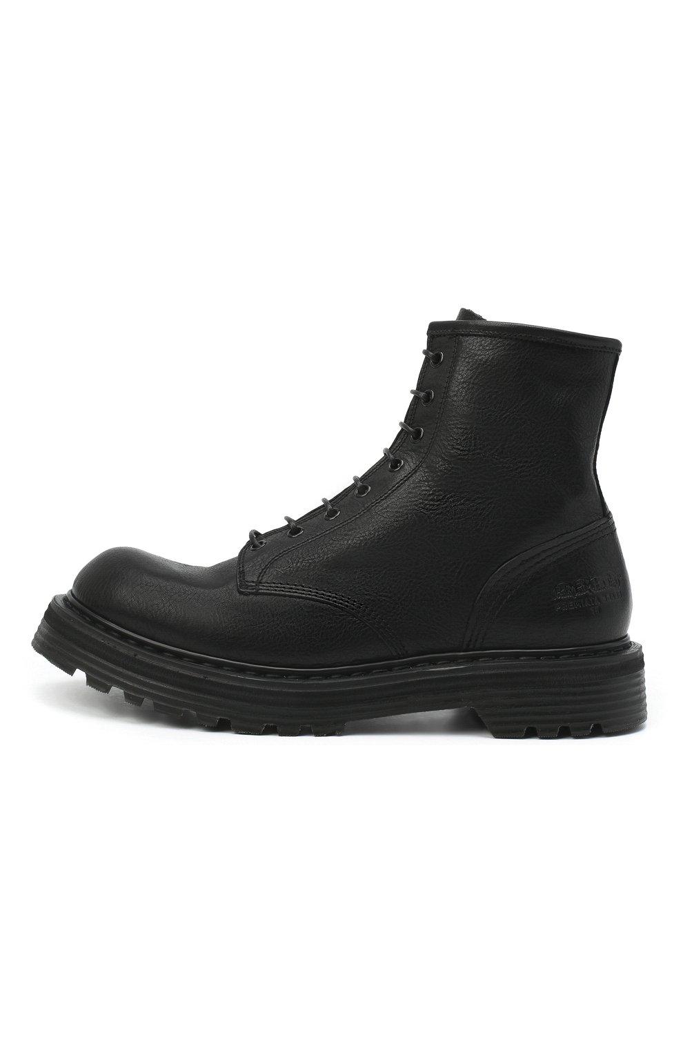 Мужские кожаные ботинки PREMIATA черного цвета, арт. 31543/V0LANAT0 | Фото 3