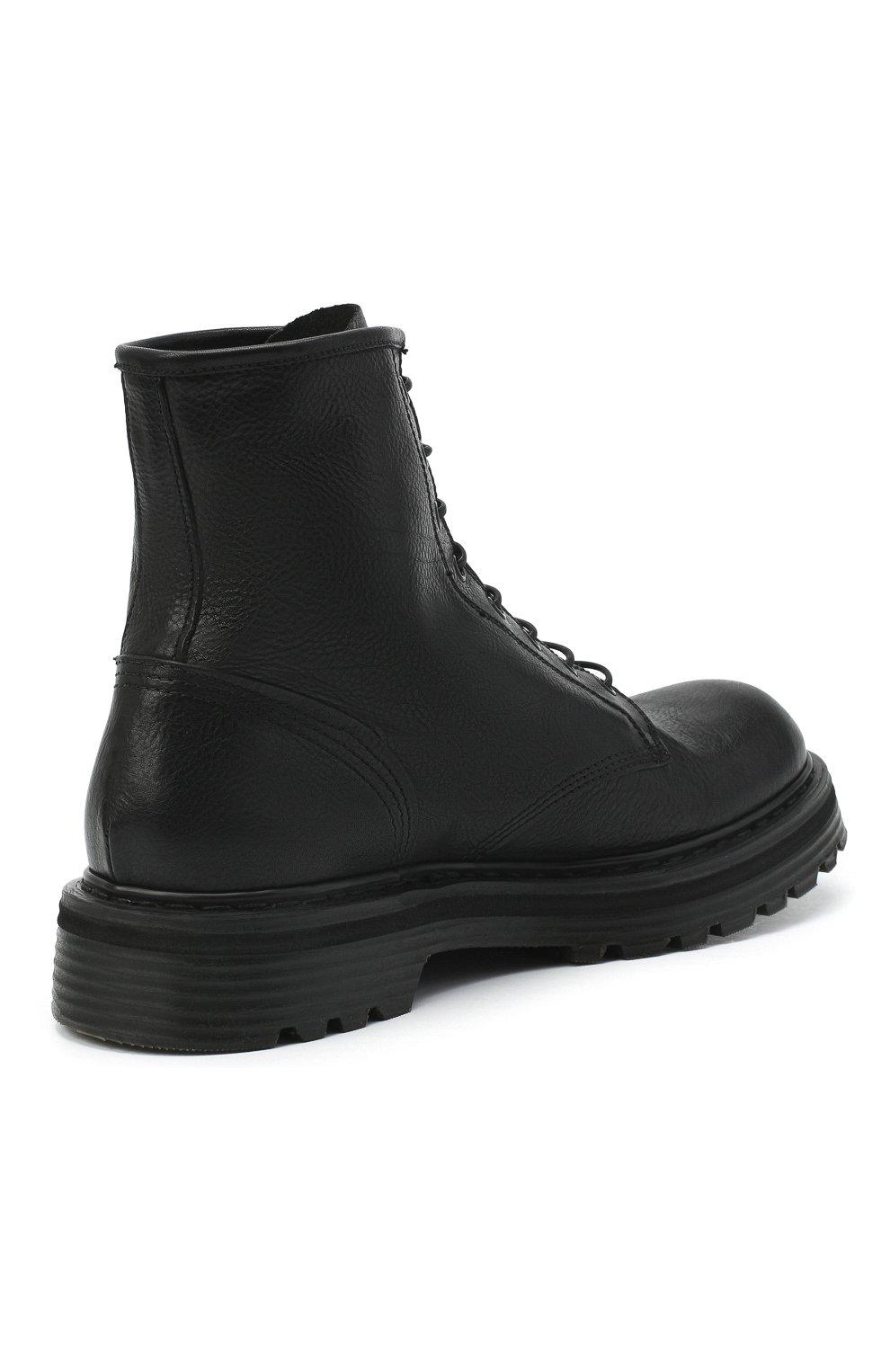 Мужские кожаные ботинки PREMIATA черного цвета, арт. 31543/V0LANAT0 | Фото 4