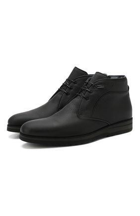 Мужские кожаные ботинки ZILLI черного цвета, арт. MDS-B049/002 | Фото 1