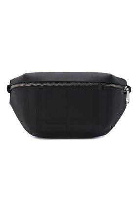 Мужская поясная сумка BURBERRY темно-серого цвета, арт. 8014237 | Фото 1