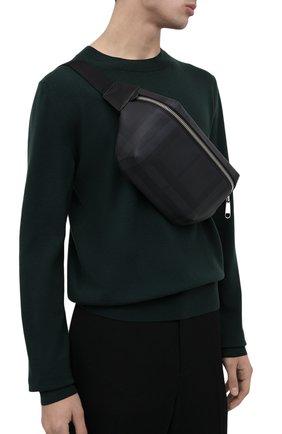 Мужская поясная сумка BURBERRY темно-серого цвета, арт. 8014237 | Фото 2