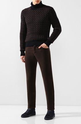 Мужские джинсы KITON коричневого цвета, арт. UPNJSJ03S68 | Фото 2