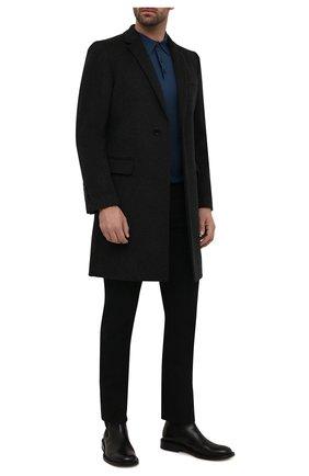 Мужское шерстяное поло GIORGIO ARMANI синего цвета, арт. 8NSF03/SM01Z   Фото 2