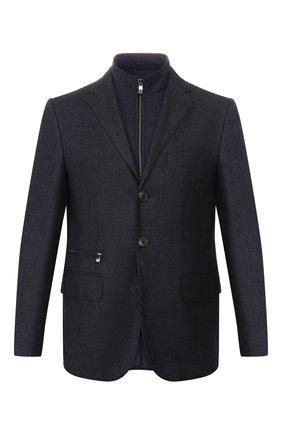 Мужской шерстяной пиджак CORNELIANI темно-синего цвета, арт. 846557-9813401/80 | Фото 1