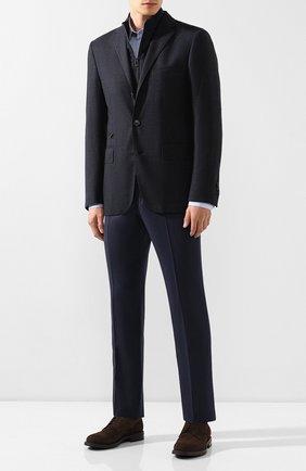 Мужской шерстяной пиджак CORNELIANI темно-синего цвета, арт. 846557-9813401/80 | Фото 2