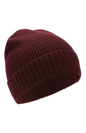 Мужская шерстяная шапка BOSS бордового цвета, арт. 50416234 | Фото 1