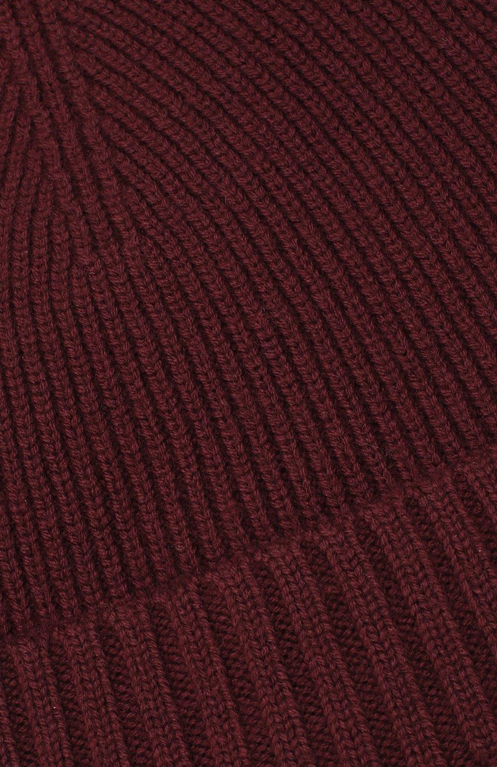 Мужская шерстяная шапка BOSS бордового цвета, арт. 50416234 | Фото 3