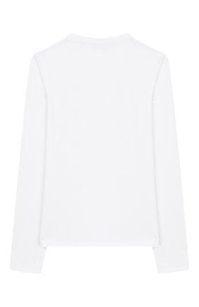 Детская хлопковый лонгслив DKNY белого цвета, арт. D35Q20/10B FW19/20 | Фото 2