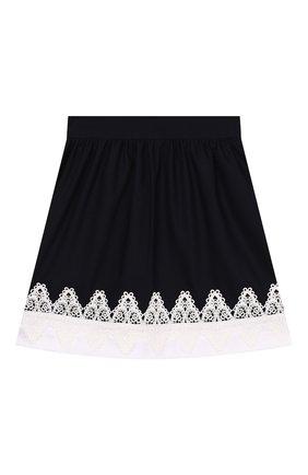 Детская юбка DAN MARALEX темно-синего цвета, арт. 204664513 | Фото 2