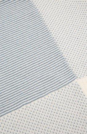Детского кашемировое одеяло LORO PIANA голубого цвета, арт. FAI7362 | Фото 2