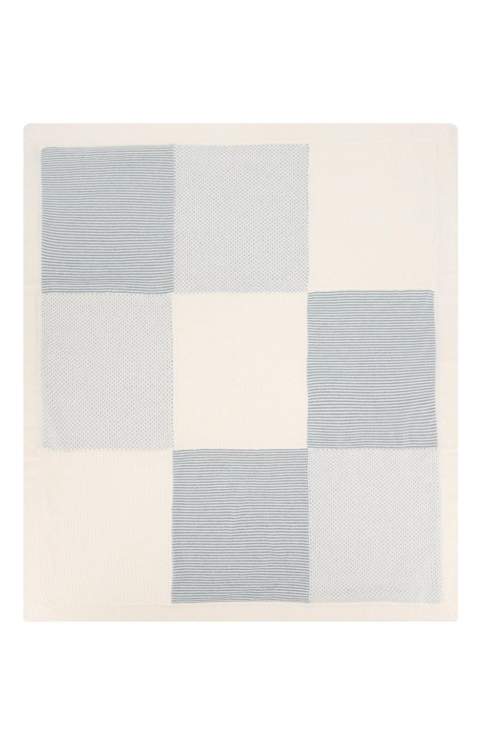 Детского кашемировое одеяло LORO PIANA голубого цвета, арт. FAI7362 | Фото 3