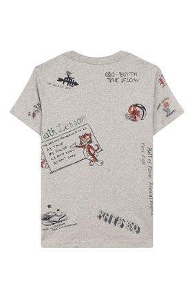 Детская хлопковая футболка POLO RALPH LAUREN серого цвета, арт. 323750956 | Фото 2
