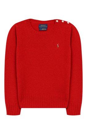Детский пуловер из шерсти и кашемира POLO RALPH LAUREN красного цвета, арт. 313751019 | Фото 1