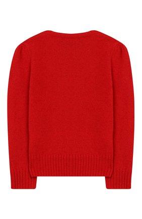 Детский пуловер из шерсти и кашемира POLO RALPH LAUREN красного цвета, арт. 313751019 | Фото 2