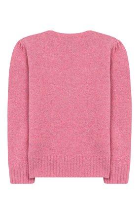 Детский пуловер из шерсти и кашемира POLO RALPH LAUREN розового цвета, арт. 311751019 | Фото 2
