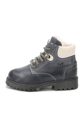 Детские кожаные ботинки с меховой отделкой IL GUFO синего цвета, арт. G380/VIT. 0RLAND0C0L0RS/23-26 | Фото 2