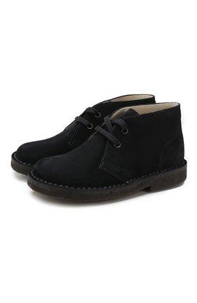 Детские кожаные ботинки IL GUFO темно-синего цвета, арт. G121/VEL0UR PESANTE/27-30 | Фото 1