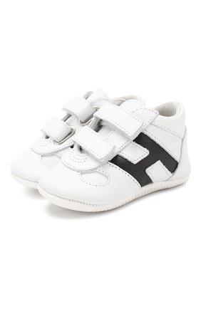 Детского кожаные кроссовки HOGAN белого цвета, арт. HXB0570Z330FH5 | Фото 1