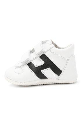 Детского кожаные кроссовки HOGAN белого цвета, арт. HXB0570Z330FH5 | Фото 2