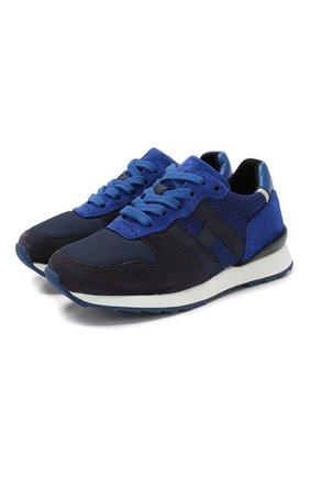 Детские кроссовки HOGAN синего цвета, арт. HXC4840CF90IDU | Фото 1