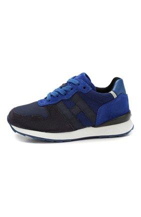 Детские кроссовки HOGAN синего цвета, арт. HXC4840CF90IDU | Фото 2