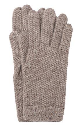 Женские кашемировые перчатки INVERNI темно-бежевого цвета, арт. 2576GU | Фото 1