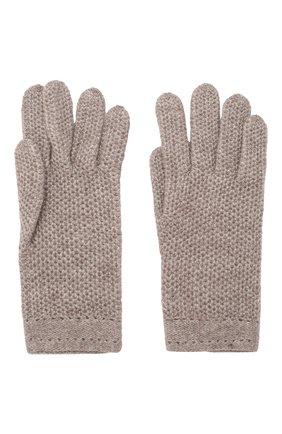 Женские кашемировые перчатки INVERNI темно-бежевого цвета, арт. 2576GU | Фото 2