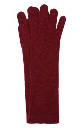 Женские кашемировые перчатки INVERNI бордового цвета, арт. 3078GU | Фото 1