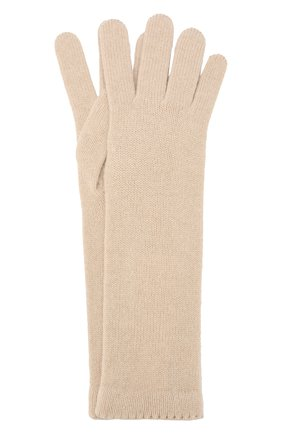 Женские кашемировые перчатки INVERNI светло-бежевого цвета, арт. 3078GU | Фото 1