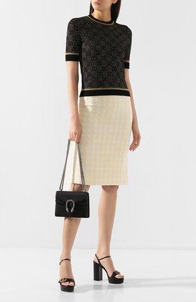 Женская сумка dionysus mini GUCCI черного цвета, арт. 421970/CA0GN | Фото 2
