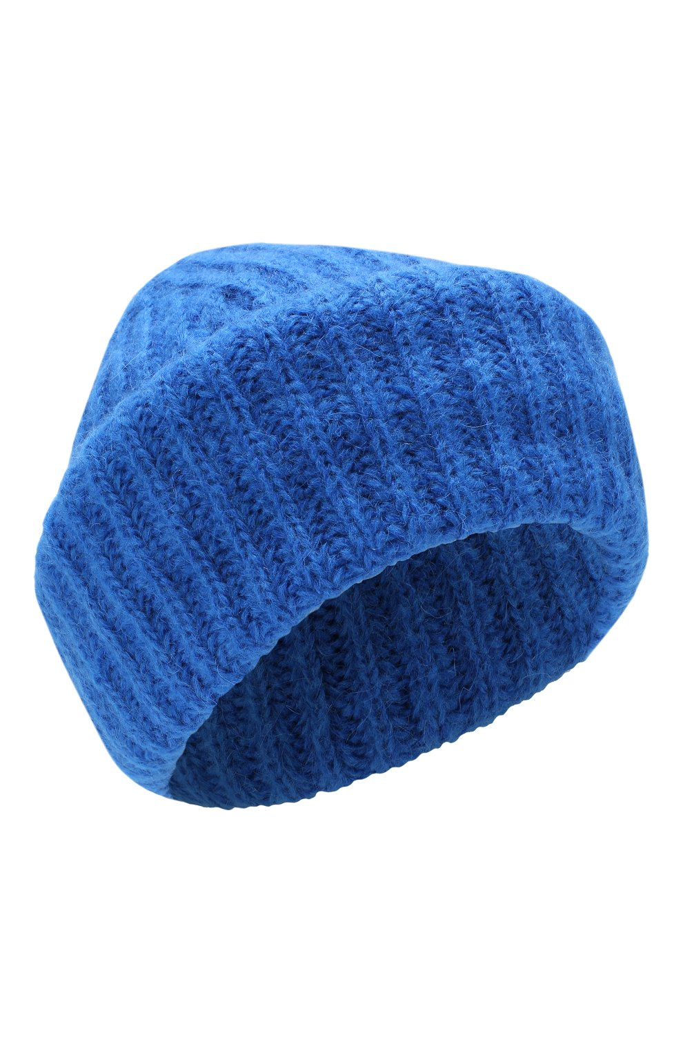 Женская шапка TAK.ORI синего цвета, арт. HTK30043MA030PF18   Фото 1 (Материал: Текстиль, Шерсть, Синтетический материал; Статус проверки: Проверено, Проверена категория)