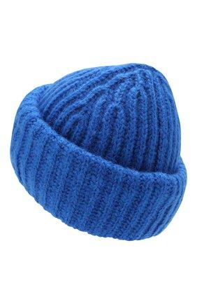 Женская шапка TAK.ORI синего цвета, арт. HTK30043MA030PF18   Фото 2 (Материал: Текстиль, Шерсть, Синтетический материал; Статус проверки: Проверено, Проверена категория)