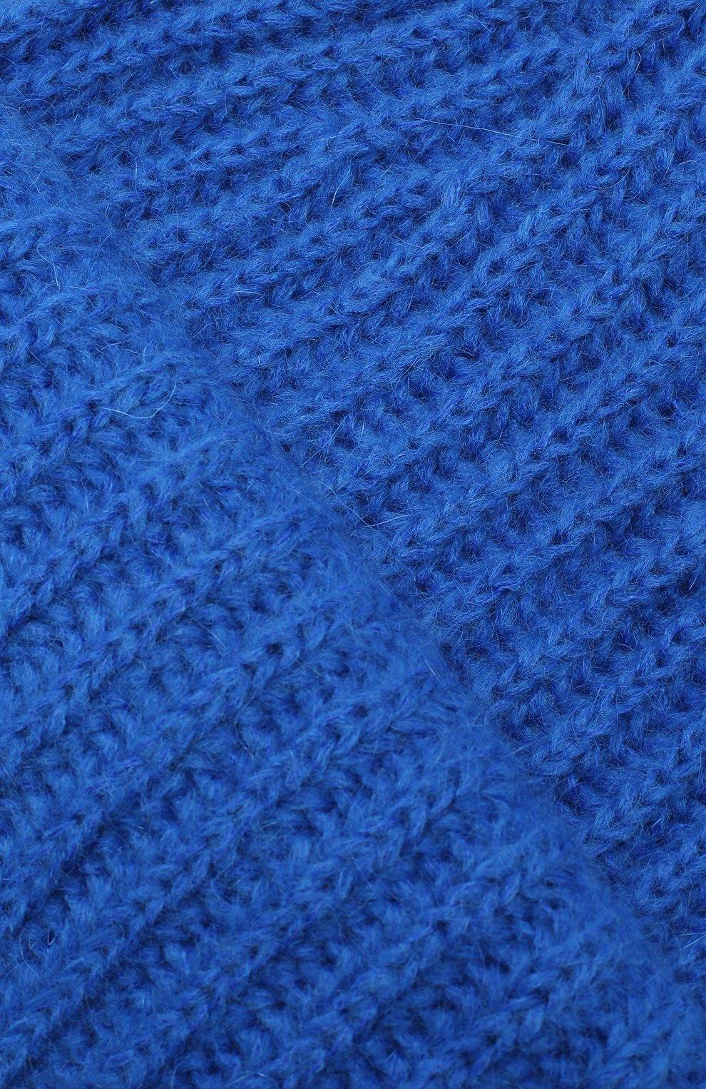 Женская шапка TAK.ORI синего цвета, арт. HTK30043MA030PF18   Фото 3 (Материал: Текстиль, Шерсть, Синтетический материал; Статус проверки: Проверено, Проверена категория)