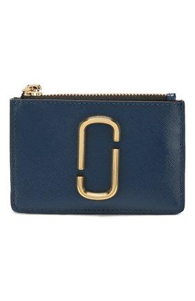 Женский кожаный футляр для кредитных карт snapshot  MARC JACOBS (THE) темно-синего цвета, арт. M0014283 | Фото 1