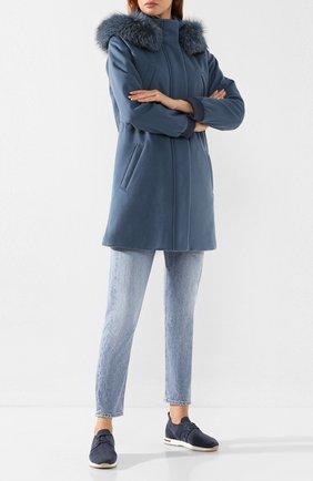 Женские текстильные кроссовки 360 lp walk LORO PIANA синего цвета, арт. FAI7759 | Фото 2