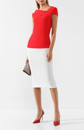 Женская кожаные туфли love 100 JIMMY CHOO красного цвета, арт. L0VE 100/PWJ | Фото 2