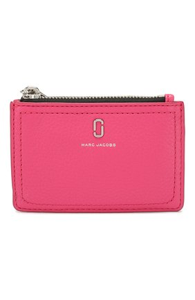 Женский кожаный футляр для кредитных карт MARC JACOBS (THE) розового цвета, арт. M0015123 | Фото 1